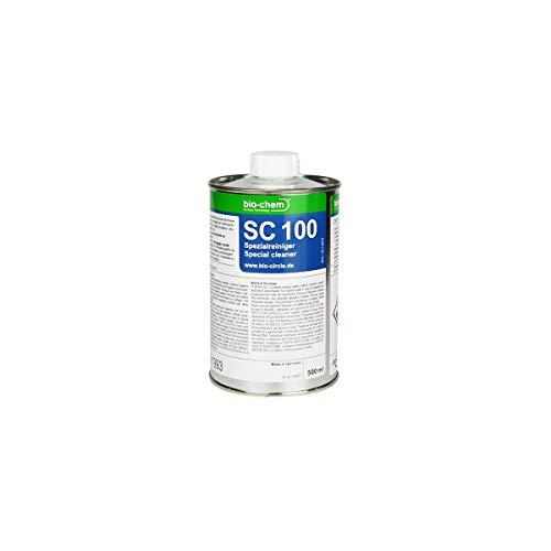 bio-chem SC 100 Klebstoffentferner Citrus Spezial-Reiniger 500 ml Entferner Etiketten Aufkleber Klebereste Bitumen Schmierstoffen Graffiti Harz Ölen und Fetten Gummiresten und -abrieb Intensivreiniger
