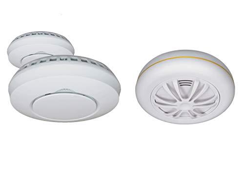 ELRO alarmset: 2 x draadloze rookmelder + hittemelder voor Smart Home Connects System