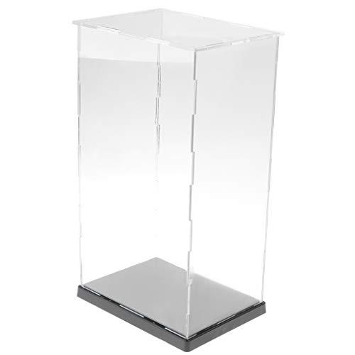 IPOTCH Vítrina de Acrílico Caja de Exposición Presentación Transparente para Colecciones de Figuras de Acción 3D - 14 x 19 x 34cm