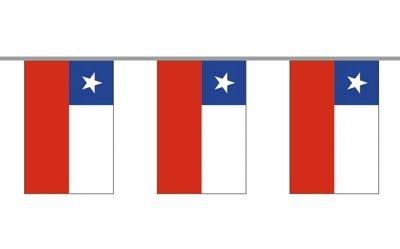 Fahnenkette Chile 6 m Fahne Flagge Flaggenkette