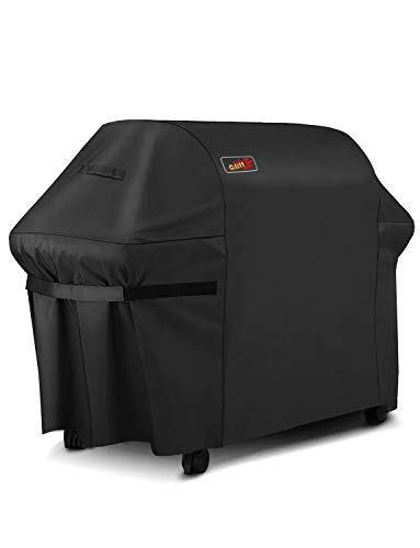 Homitt Gas Grill Cover, 72-inch 3-4 Burner 600D Heavy Duty Waterproof BBQ Cover with Handles and Adjustable Straps for Most Brands of Grill -Black
