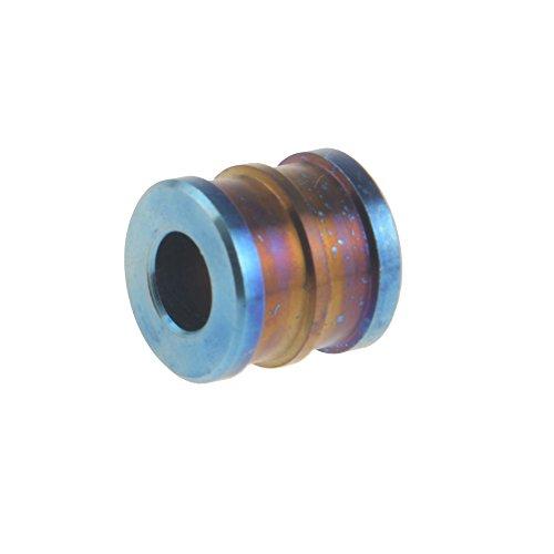 Titane Cordon Pull Pendentif Perle pour EDC Cord Corde d'embrayage Fermeture Éclair Bleu bleu