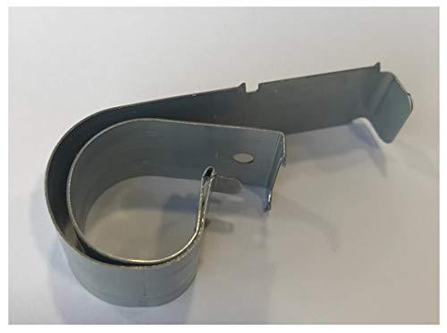 Ironico 12 Stück Universal Premium Sockelhalter für 15-22 mm Küchensockel Qualität Sockelfeder Halter Befestigung an für Sockelleiste Küche Unterschrank Blende Klammer Sockel Möbel Fußleiste
