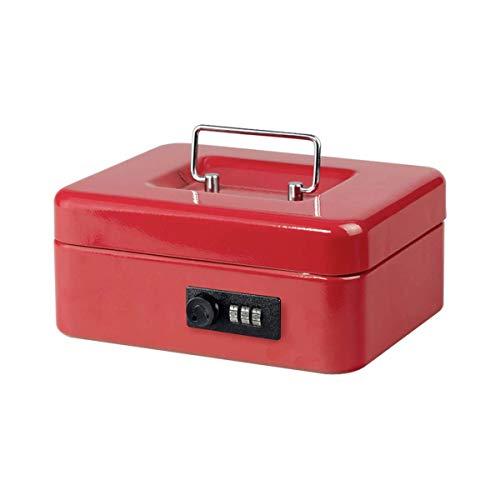 BURG-WÄCHTER Geldkassette abschließbar mit Zahlenschloss und Hartgeldeinsatz, Stahlblech, Money Code 5020, Rot