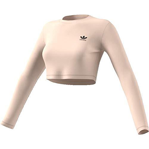 adidas Damen Styling Complements Cropped Longsleeve, Linen, 44