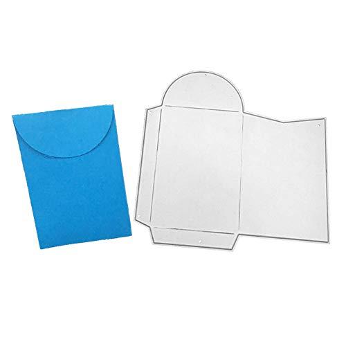 KingbeefLIU Tarjeta Bolsillo sobre Troquelado Troquelado Scrapbooking Relieve DIY Papel Artesanía Molde Reutilizable Durable Plata