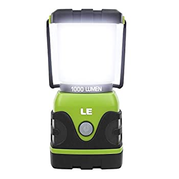 LE LED Camping Lantern Battery Powered LED with 1000LM 4 Light Modes Waterproof Tent Light Perfect Lantern Flashlight for Hurricane Emergency Survival Kits Hiking Fishing Home and More