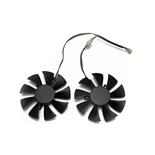 Reemplazo de Ventilador de 85 mm 4Pin Reemplazar para Zotac GTX1060 6GB GTX 1060 Edición + Tarjeta de gráficos Ventilador de refrigeración GFY09010E12SPA (Blade Color : 40MM)