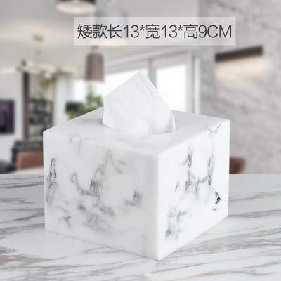 Creativo scatola di tessuto in resina di marmo stile nordico salotto tavolino camera da letto tovagliolo vassoio carta di albergo asciugamano scatola di immagazzinaggio E