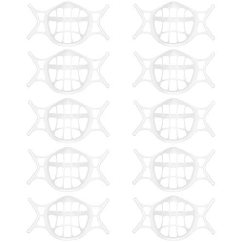 Soporte 3D para mascarilla 10 Piezas Soportes 3D Lavables Reutilizables Marco De Soporte Protector de lápiz Labial Facial Reutilizable