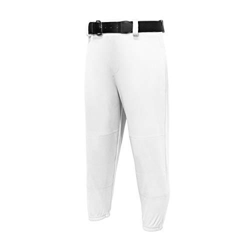 Easton Youth Pro Baseball-Hose mit Klimmzug, 2020, Weiß, Jugendliche, Größe M, Kordelzug am Bund, elastischer Boden, Gürtelschlaufen