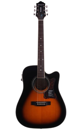 Epiphone DR-500MCE Acoustic/Electric - Guitarras electroacústicas, color vintage sunburst