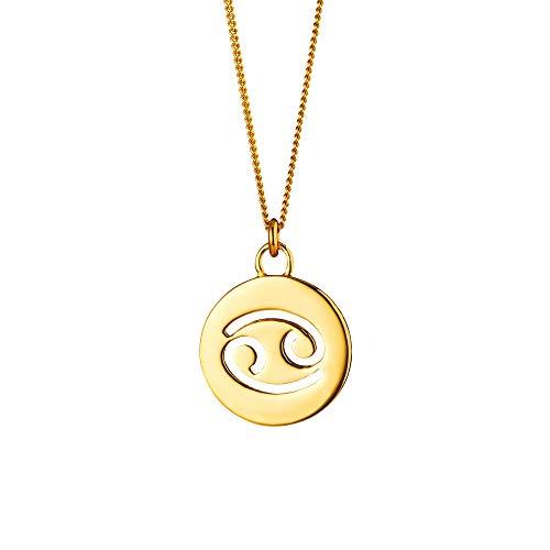Cai Damen Halskette 925/- Sterling Silber 50+5cm Glänzend gelb 135240002-55-KR