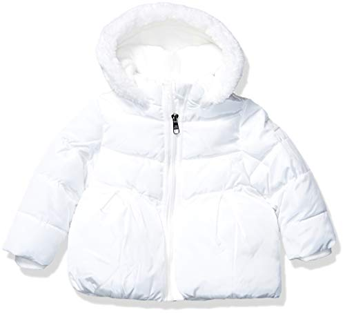 Steve Madden Girls Baby Girls Fashion Outerwear Jacket (More Styles Available), Nylon Ivory, 24M