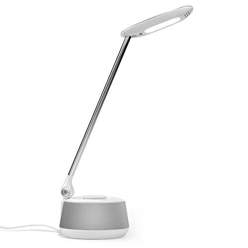 Lámpara de Escritorio LED con Altavoz Bluetooth - August LEC630 - Lámpara LED Multifuncional con Luz Suave para Protección de Ojos Altavoz Bluetooth Multifuncional de Escritorio