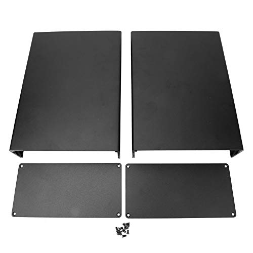 Caja de enfriamiento de aluminio Caja electrónica Accesorios de placa de circuito Superficie Sandblasting 3 x 6.3 x 8.7 pulgadas Proyecto Recinto de Protección Accesorios para Placa de Circuito