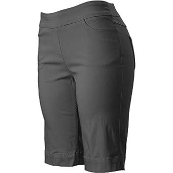 SLIM-SATION Golf Shorts Women s,Color Charcoal,Size 10