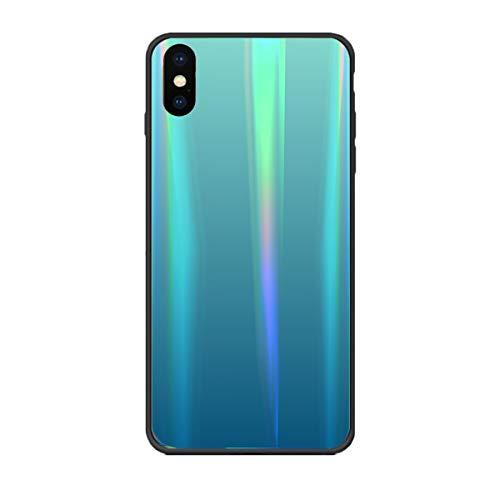 Alsoar Colorido Funda Compatible para Huawei Mate 9 Vidrio Templado 9H Aurora...