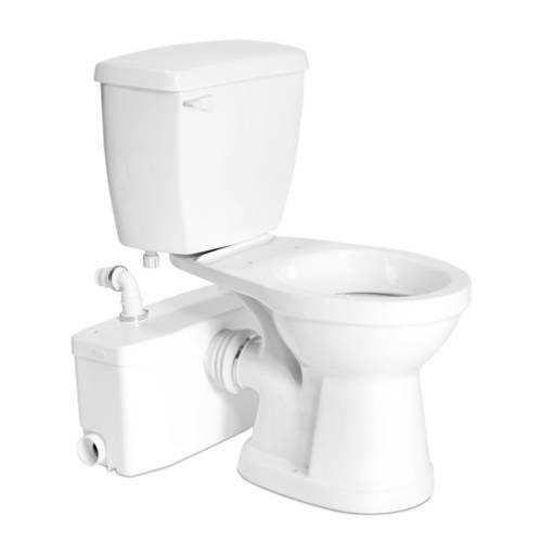 Bundle-16 Elongated Toilet with Sanibest (4 Pieces) Finish:...