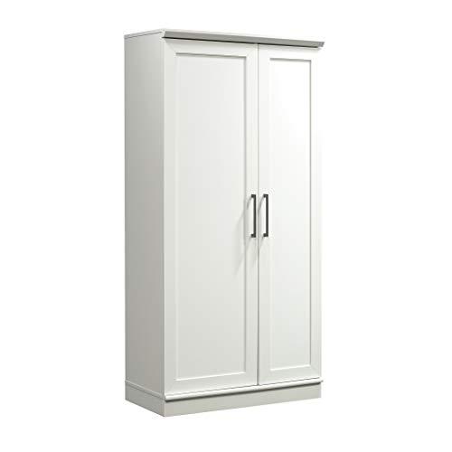 Sauder HomePlus Collection Storage Cabinet, Soft White finish, L: 35.35  x W: 17.09  x H: 71.22 ,