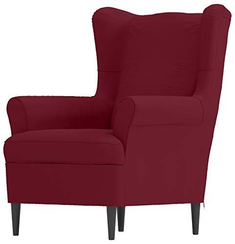 HomeTown Market - Funda de repuesto para silla de ala Strandmon de algodón para sillón IKEA STRANDMON