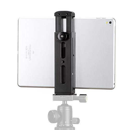 Ulanzi iPad Tripod Mount, Adapter - Aluminum Metal Tablet Tripod Mount with Cold Shoe, iPad Mount for Tripod, iPad Holder for Tripod, Compatible for iPad Mini, iPad, iPad Pro, and More Tablets