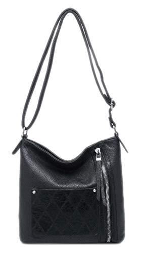Girly Handbags Frauen Soft-Tasche Umhängetasche TascheSchwarz