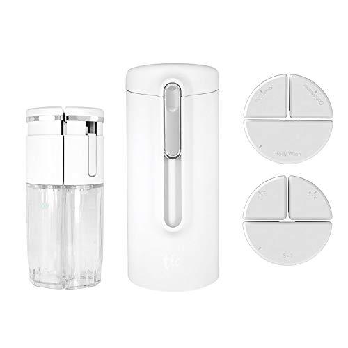 トラベルボトル豪華版 TIC SHOWER BOTTLE COMBO V2.0(シャワー用コンボセット)シャンプー・コンディショナー・ソープをひとまとめ! (ホワイト)