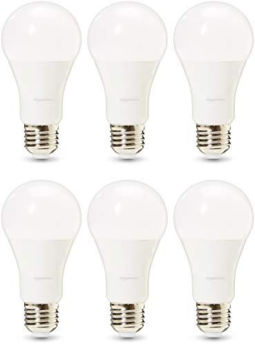 AmazonBasics Professional - Bombilla de tipo Edison LED, casquillo E27, equivalente a 100 W, blanco frío, regulable - juego de 6