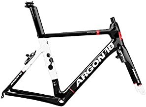 ARGON18 Road Bike Frame Nitrogen Rim Brake Gloss-Black White, Size S