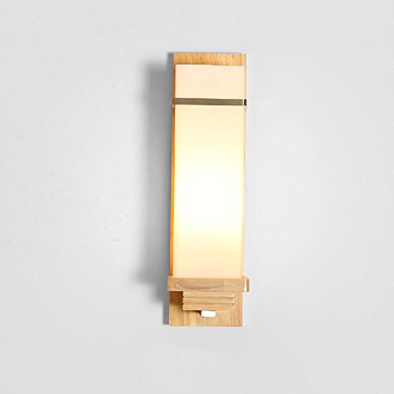 Hines 1-light japanische massivholz glas wandleuchte einfache moderne led wohnzimmer lichter schlafzimmer nachttischlampe e27 flur gang balkon licht