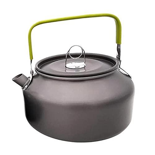 YourBoob Tetera para Acampar, Tetera De Aluminio Anodizado Ligera Portátil 1.2L para Acampar Y Caminar Cocina