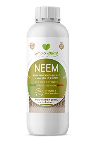 Symbioethical NEEM - Emulsione idrosolubile a Base di Olio di NEEM CONCENTRATO - 500ml