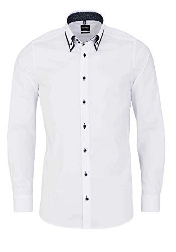 OLYMP Level Five Body fit Hemd Langarm Button Down Kragen weiß Größe 39