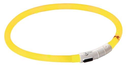 Kerbl 81190 Maxi Safe Led-Halsband, gelb, Länge 55 cm