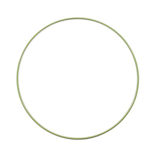 Vaessen Creative 11020-001 Metallring, Grün, Spannring Ø25 cm aus 3 mm Metalldraht zum Traumfänger Basteln, Makramee Knoten, Mandala Häkeln sowie Gestalten weiterer Wanddeko und Fensterdeko, Metal, 25