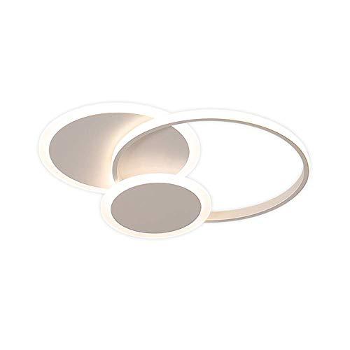 Plafoniera a LED quadrata rotonda Camera da letto Nordica Nero Bianco Bianco Lampada in alluminio Lampada Lampada Lampada Illuminazione Metallo Acrilico Bianco Luce calda Dimmerabile Telecomando Telec