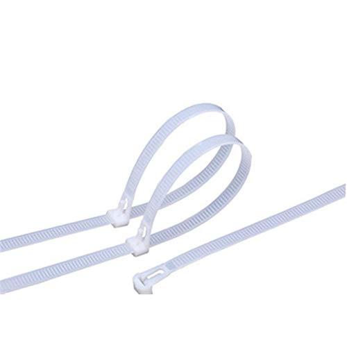 30 unids Corbata de cabello de nylon retráctil, corbata de cabello de nylon reutilizable, plástico auto-bloqueo Cable de nylon corbata corbata envolturas pequeñas corbatas láctiles cremallera negro