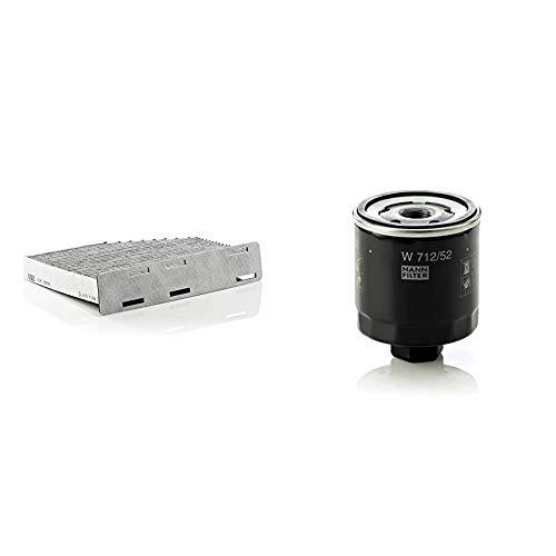 Original MANN-FILTER Innenraumfilter CUK 2939 – Pollenfilter mit Aktivkohle – Für PKW & Ölfilter W 712/52 - Für PKW
