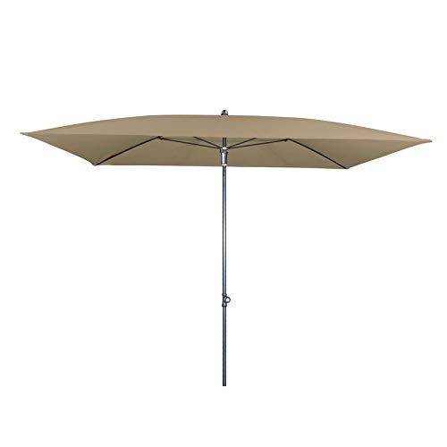 Doppler Sonnenschirm \'Sunline Waterproof\' aus Stahl, 230 x 190 cm Greige