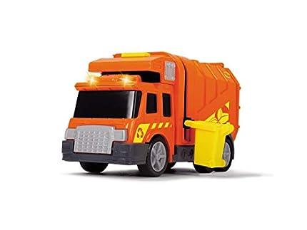 Dickie Toys Action Series - Camión de Basura City Cleaner con Cubo, Luz y Sonido, para Niños a partir de 3 Años - 15 cm