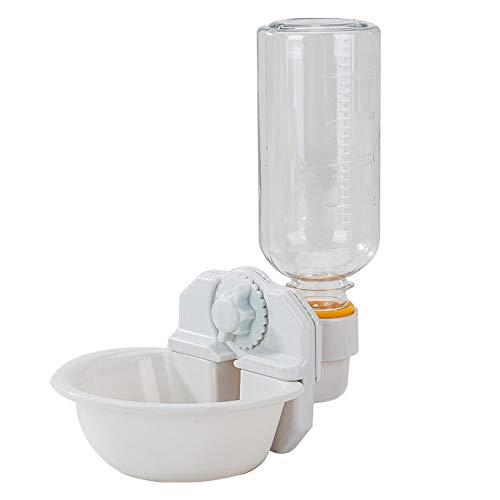 Urijk Kleintier Wasserflasche Käfig Hängende Wasserspender Schüssel Flasche Katzen Automatische Trinkflasche Wassernapf für Katze/Hamster/Ratte/Hase/Frettchen/Kaninchen(Weiß)