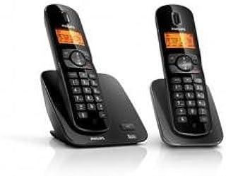 Philips Sound - Teléfono (Teléfono DECT, 50 entradas, Identificador de Llamadas, Negro): Amazon.es: Electrónica