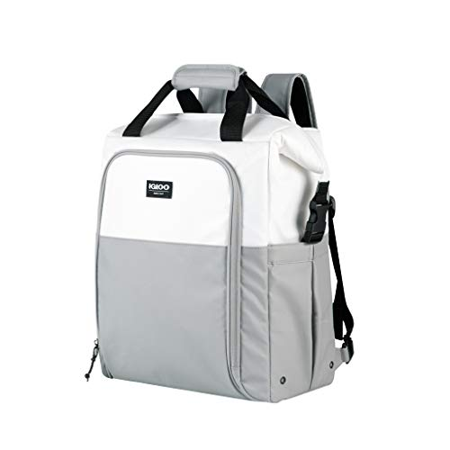 IGLOO Unisex's Marine Switch Backpack White/Grey Insulated Cooler, 30 Canettes