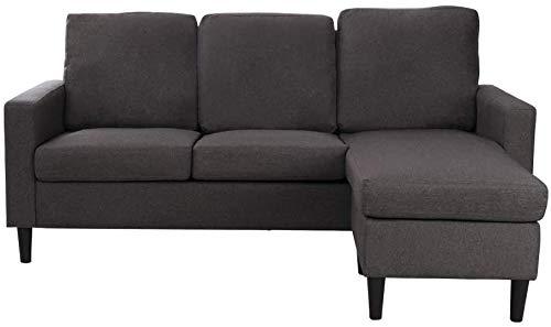 Sofá de 3 plazas sofá de la esquina moderno y minimalista con chaise longue,Lshaped 3 seater sofa