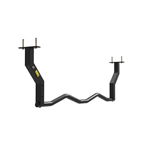 LIINAWSHG LINWSH Trampoline Pull Up Bar Chin Up - Umbral Ajustable Chin Encima Barra Superior Body Bar Entrenamiento con Comfort apretones Ejercicio de la Gimnasia Longitud de flexión 119cm Varilla