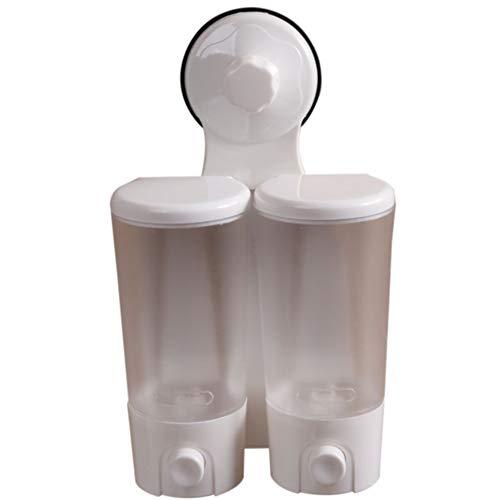 WSLWJH Zeepdispenser voor zeep van ABS Bad Wit wastafel gereedschap voor bevestiging aan de muur Fusion Double