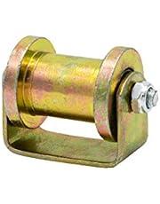 FWZJ Groove wiel Heavy Duty 45 # stijve Caster H Type katrol Sheave Directional Track Roller, voor draadkabel Rail, schuifdeur, industriële machines, rollende poorten, schuifpoort (59mm/2.3in-C)