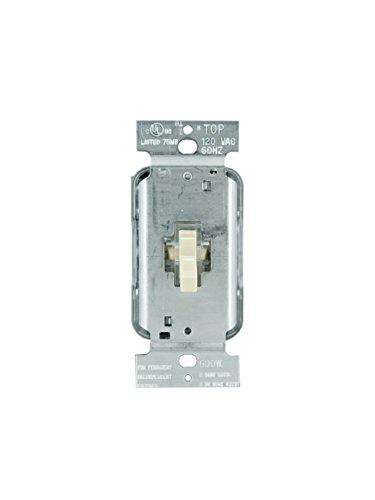 Legrand - Pass & Seymour T603LIV Toggle Dimmer 600-watt Three Way Lighted Easy Installation, Ivory