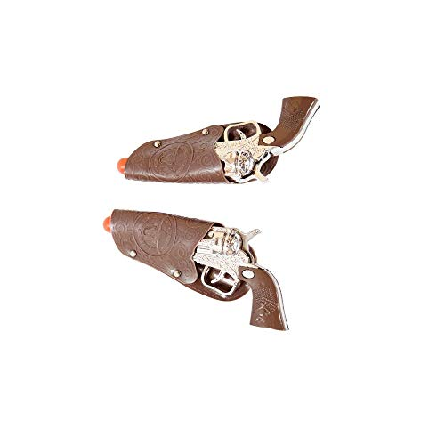 Roma Costume Pair of Toy Cowboy Guns Womens Party Costume - One Size Brown